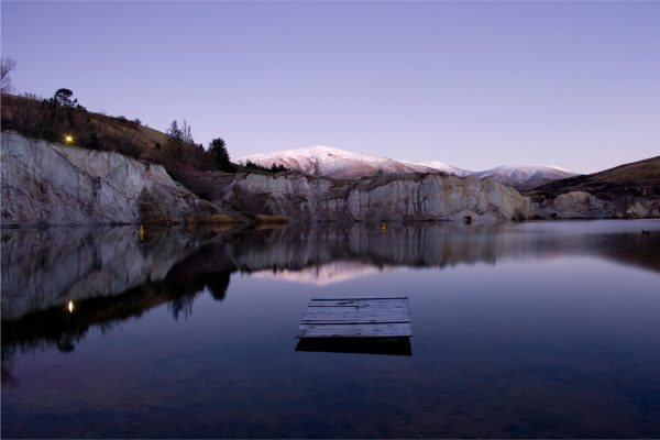 Blue Lake at Sunrise, St. Bathans, 2009